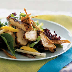 Grilled Chicken, Mango, and Jicama Salad with Tequila-Lime VinaigretteRecipe