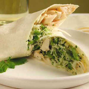 Chicken and Mint Coleslaw WrapsRecipe