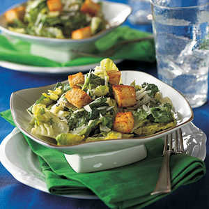 Creamy Caesar Salad with Spicy CroutonsRecipe