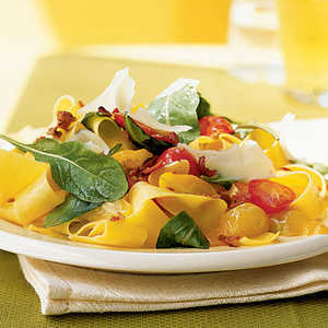 Summer Pappardelle with Tomatoes, Arugula, and ParmesanRecipe