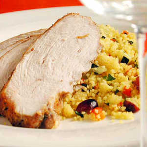 Moroccan Turkey with Cranberry Couscous Recipe