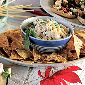 Cosmic Crab Salad with Corn ChipsRecipe