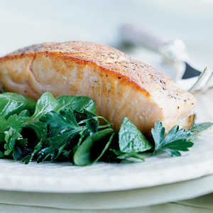 Crispy Salmon with Herb SaladRecipe