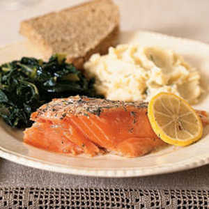 Roasted Wild Salmon and Dill Recipe