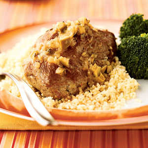 <p>Duck with Olives and Couscous</p>