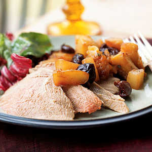 Roasted Duck with Roasted Fruit CompoteRecipe