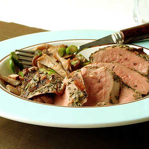 Grilled Duck with Warm Mushroom Salad and Truffle VinaigretteRecipe