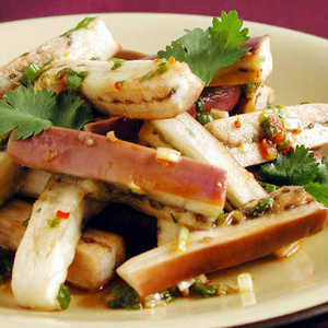 Steamed Japanese Eggplant with Spicy Green Onion-Ginger SauceRecipe