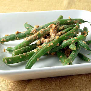 Green Beans Tossed with Walnut-Miso SauceRecipe