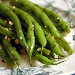 Green Beans with Toasted Almond GremolataRecipe