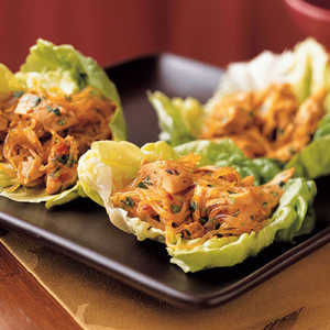 <p>Spicy Asian Lettuce Wraps</p>