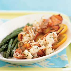 Champagne and Orange-Steamed Lobster Tails en PapilloteRecipe