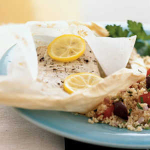 Mediterranean Mahimahi in Parchment with Couscous Recipe