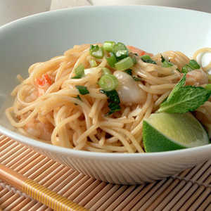 Noodle Salad with Shrimp and MintRecipe