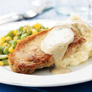 <p>Pork Chops with Country Gravy</p>