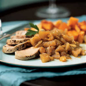 Chai-Brined Pork Tenderloin with Spiced Apple ChutneyRecipe