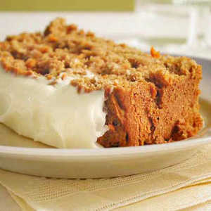 Carrot Quick Bread with Cream Cheese FrostingRecipe