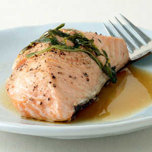 Grilled Salmon with Garlic, Lemon, and BasilRecipe