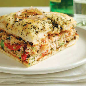 Broccoli and Smoked Turkey Focaccia SandwichesRecipe