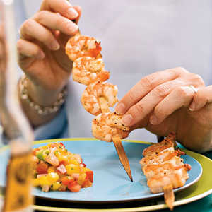 Grilled Shrimp with Mango and Red Onion RelishRecipe