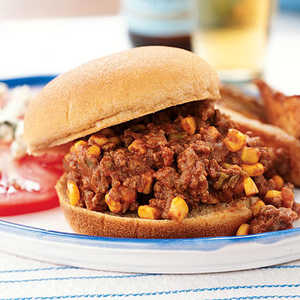 <p>Sloppy Joes with Corn</p>