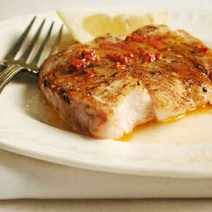 <p>Baked Snapper with Chipotle Butter</p>