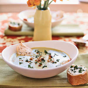 Soupe au Verte with Goat Cheese ToastsRecipe