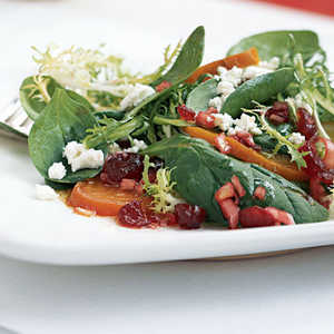 Frisée, Baby Spinach, and Golden Beet SaladRecipe