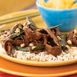 Stir-Fried Szechuan Steak on Rice Recipe