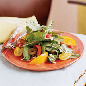 Grilled Vegetable, Arugula, and Yellow Tomato SaladRecipe