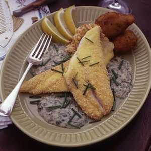 Schoolkid's Flounder with Fish-Camp Buerre BlancRecipe