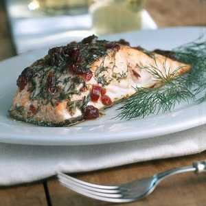 Alder-roasted Salmon with Dill and CranberriesRecipe