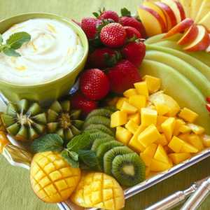 Tropical Fruit with Mango CreamRecipe