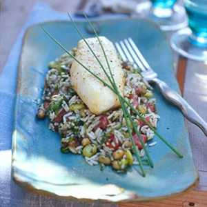 Baked Sheepshead on Hoppin' John Recipe