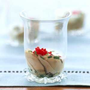 Oyster Shooter with Cucumber SauceRecipe