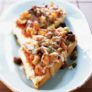 Spicy Crawfish and Andouille Pizza on French BreadRecipe
