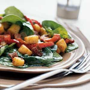 Scallop and Spinach Salad with Warm DressingRecipe