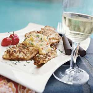 Pecan-crusted Trout with Peach-Habanero Chile SauceRecipe