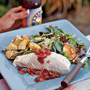 Oven-roasted Halibut with Cranberry ChutneyRecipe