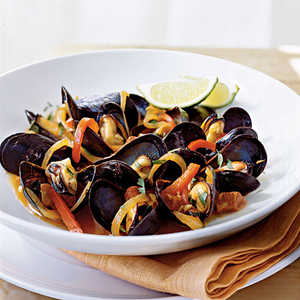 Mussels with Red Pepper and ChorizoRecipe