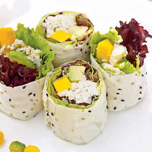 Crab Salad Rolls with Ginger-Plum SauceRecipe