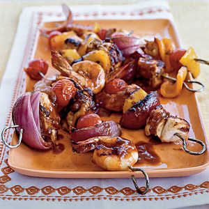 Mixed Grill Kebabs with Guava BBQ SauceRecipe