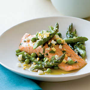 Salmon with Spring Vegetables Recipe