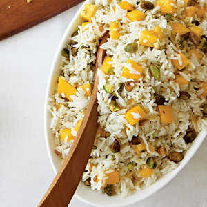 Coconut Rice with Mangoes and PistachiosRecipe