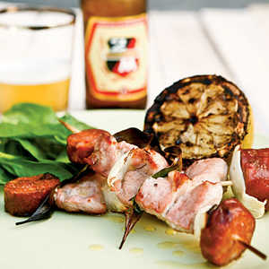 Pork-and-Chorizo Kebabs Recipe