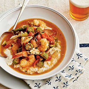 Shrimp-and-Crab Gumbo Over GritsRecipe
