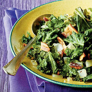 Wilted Kale with Bacon Recipe