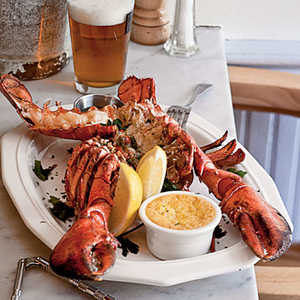 Split Grilled Lobsters with Herb Butter Recipe