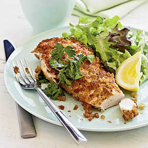 Crispy Chicken with Lemon, Parsley, and Extra Virgin Olive OilRecipe