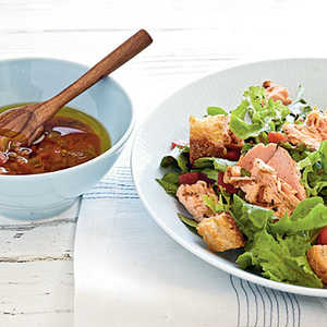 Grilled Salmon Salad with Salsa Dressing Recipe